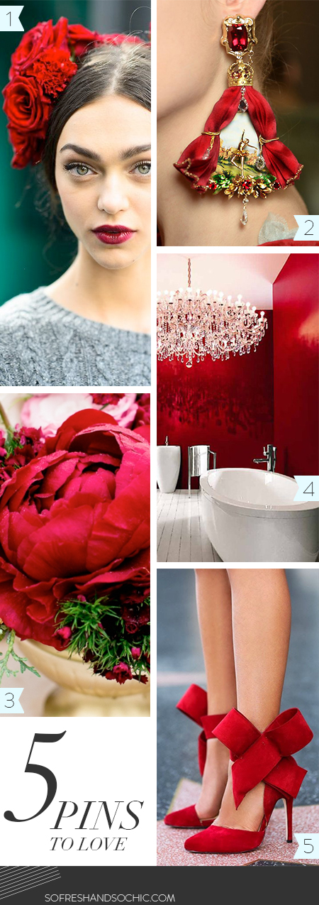 So Fresh & So Chic // Mondays are for Pinning // Top 5 Pins // Red