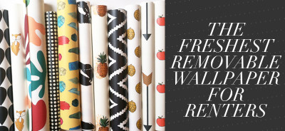 So Fresh &$ So Chic // Removable Wallpaper for Renters // www.sofreshandsochic // #sofreshandsochic #removablewallpaper #temporary #wallpaper #forthehome #interiordesign