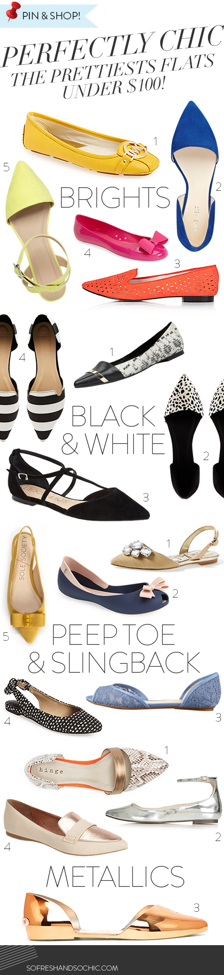 So Fresh & So Chic // The Prettiest Flats Under $100!