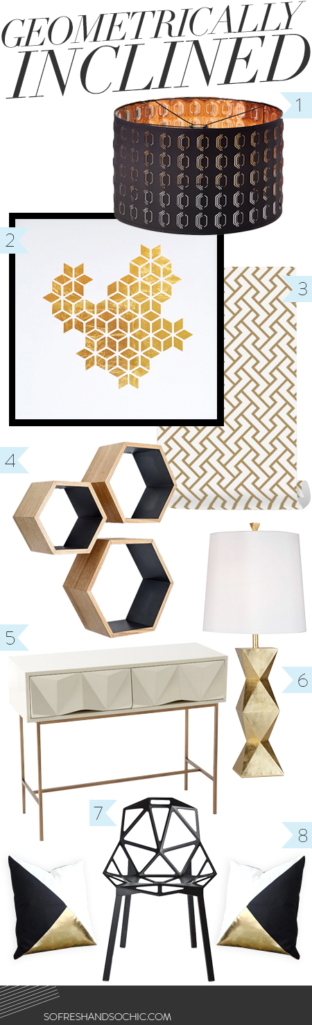 So Fresh and So Chic // For the Home // Geometrically Inclined