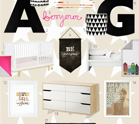 <i>[Petit amour]</i><BR />Designing  a Shared Room for a Baby Girl and Toddler Boy | Part 3 Final Design Board Revealed