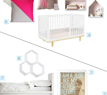 So Fresh & So Chic // Shared Room for a Baby and a Toddler // Inspiration Board Version 2