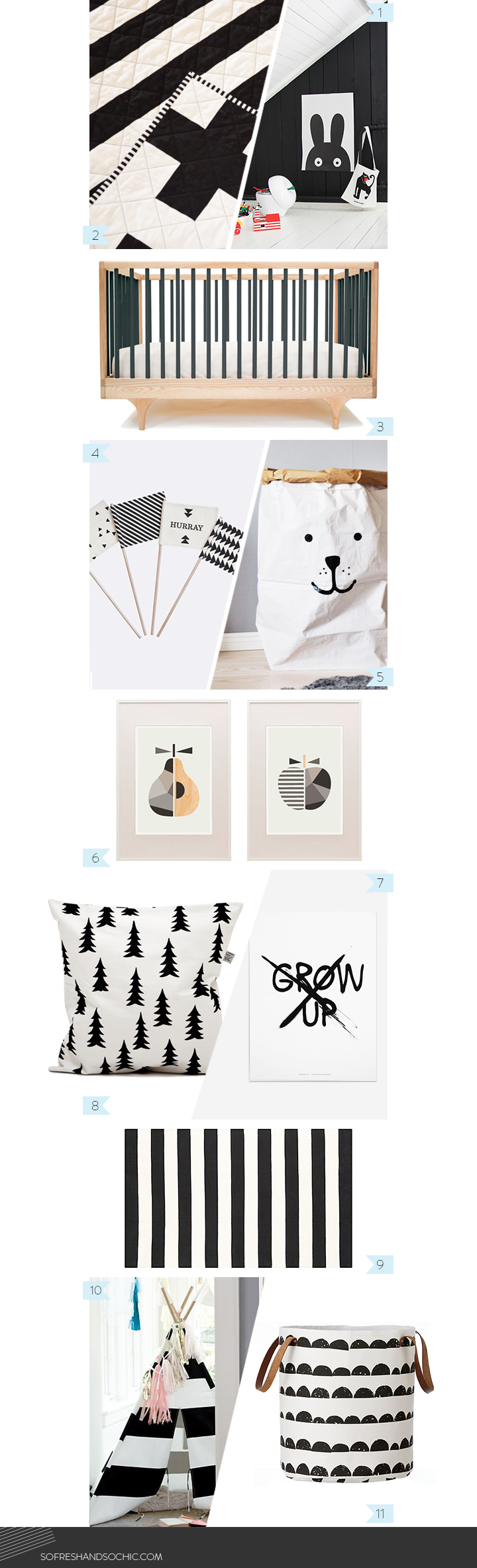 So Fresh and So Chic // Petit amour // Love, Maman // The best curated children's good // Black and White Scandinavian Style