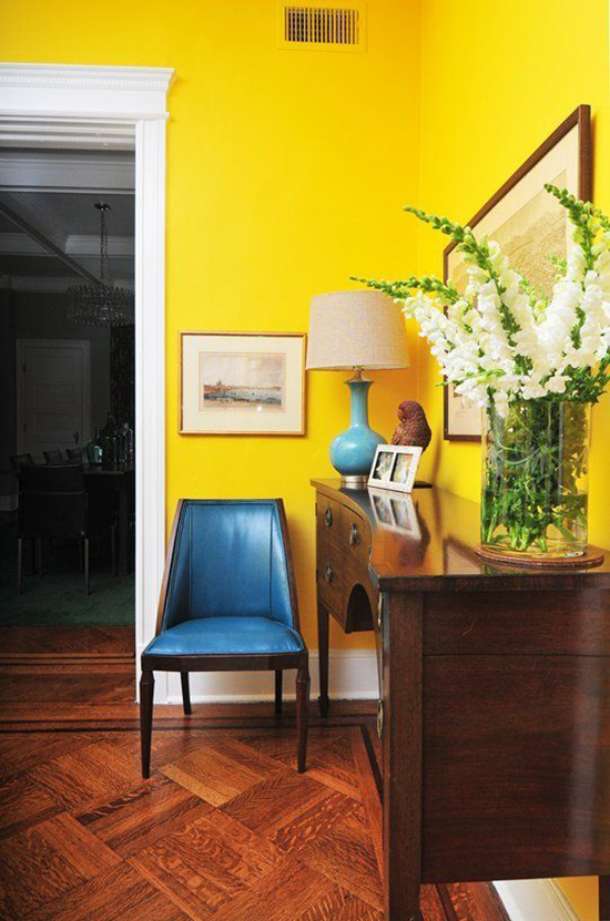 Super bright yellow walls are definitely bold.