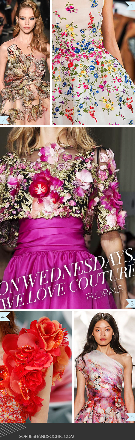 So Fresh and So Chic // On Wedensdays, We Love, Couture // Floral Inspiration #couture #florals // Follow #sofreshandsochic, A new #fashion and #lifestyle blog.