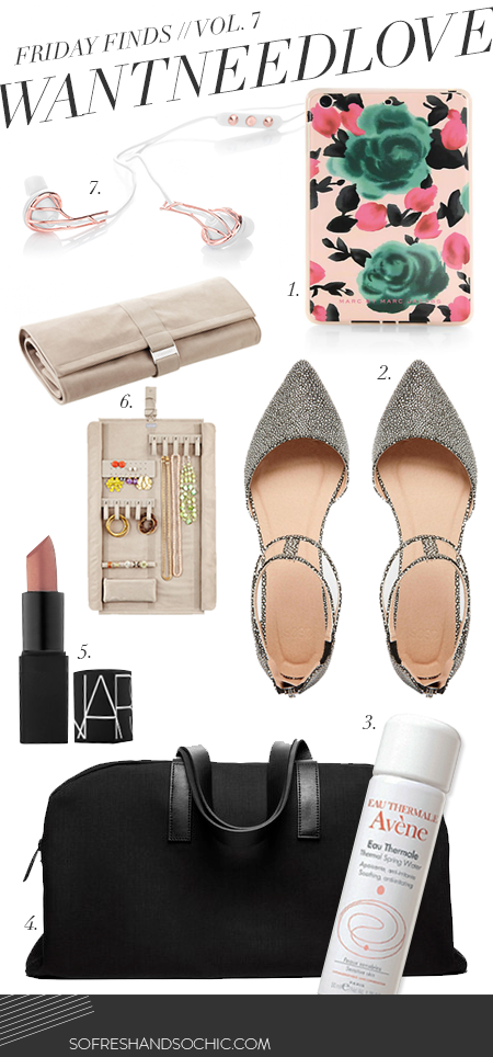 So Fresh and So Chic // #WANTNEEDLOVE // Friday Finds Vol. 7 // Top 7 Things You'll Need to Travel in Style this SUmmer