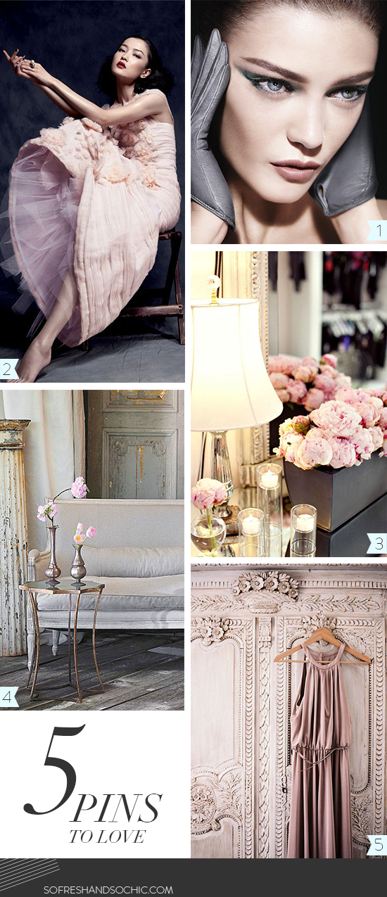 So Fresh & So Chic // 5 Pins to Love // Blush Pink and Grey Inspiration Board