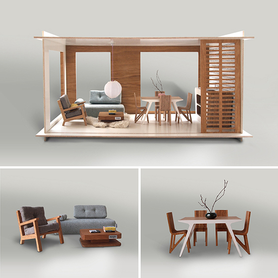 Small Miniko Dollhouse via Design Life Kids // spotted on Sofreshandsochic.com