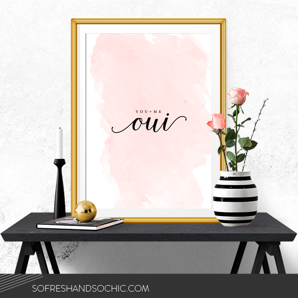So Fresh & So Chic // FREE Download of Printable Oversized Art for Nurseries