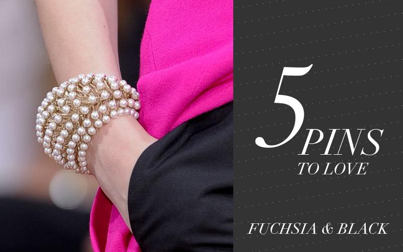 So Fresh & So Chic // 5 Pins to Love // Fuchsia and Black #sofreshandsochic www.sofreshandsochic.com #fuchsia #black #fabulous