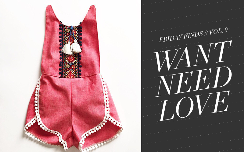 So Fresh & So Chic // Friday Finds #WANTNEEDLOVE // Baby Girl Fashion and Toys