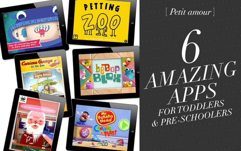 <i>[Petit amour]</i><br /> 6 Amazing Apps for Toddlers & Pre-Schoolers