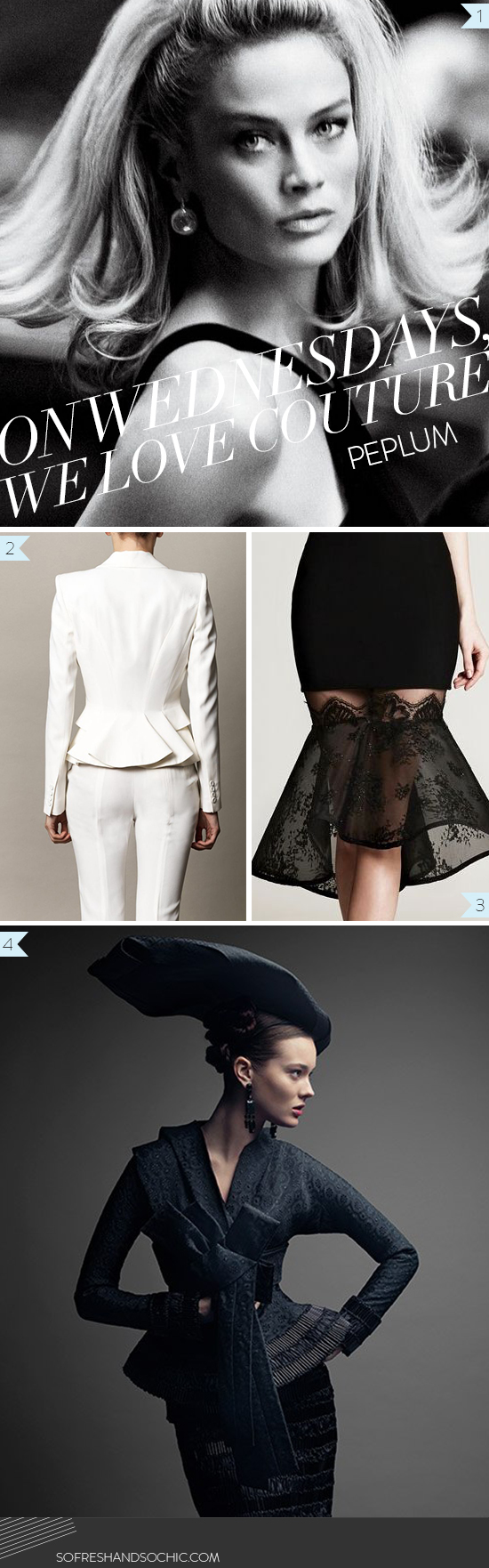 Spotted on So Fresh & So Chic: On Wednesdays, We Love Couture // Peplum // www.sofreshandsochic.com #sofreshandsochic