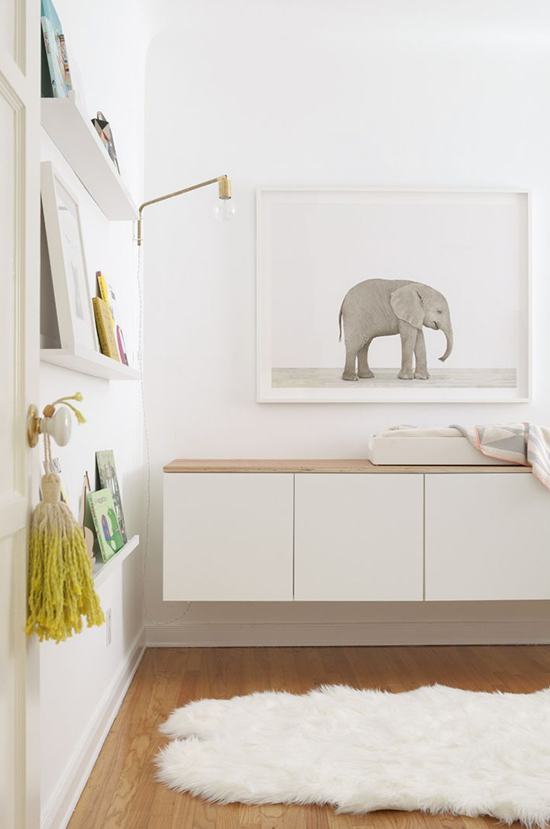 Spotted on So Fresh & So Chic // Sharon Montrose baby elephant, oversized art // www.sofreshandsochic.com #sofreshandsochic