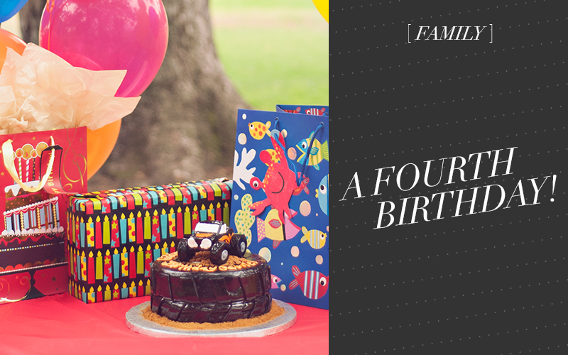 So Fresh & So Chic // Family: A Fourth Birthday #monstertruck #birthday #sofreshandsochic www.sofreshandsochic.com