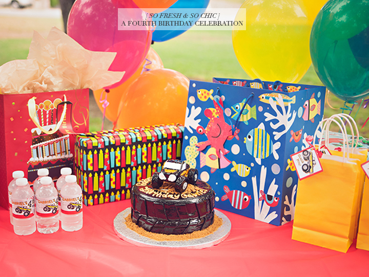 So Fresh & So Chic // A Colourful Fourth Birthday Celebration