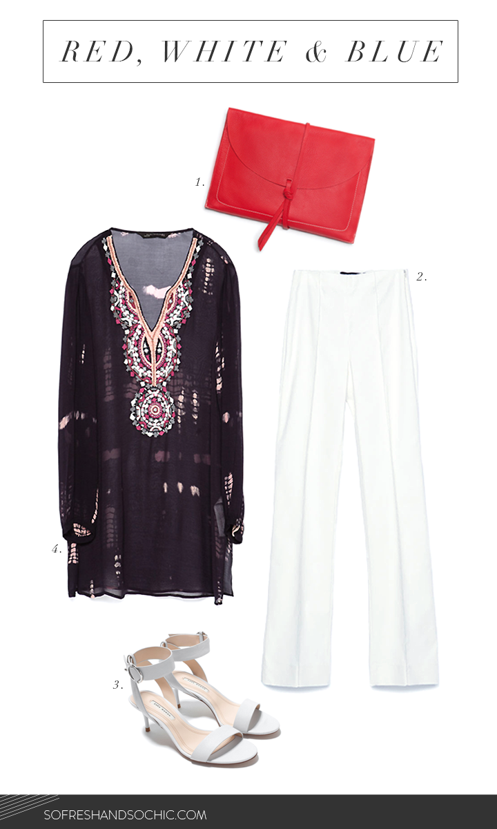 So Fresh & So Chic // Red, White and Blue from Zara's Summer Sale for Fourth of July Celebrations! #sofreshandsochic www.sofreshandsochic.com