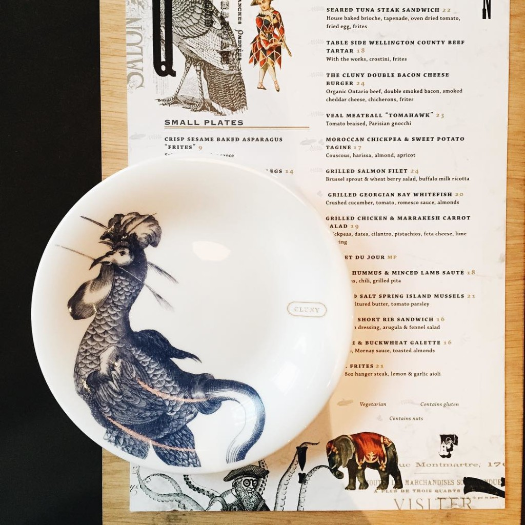 One more from Cluny and their pretty Parisian countryside menu's and plates...