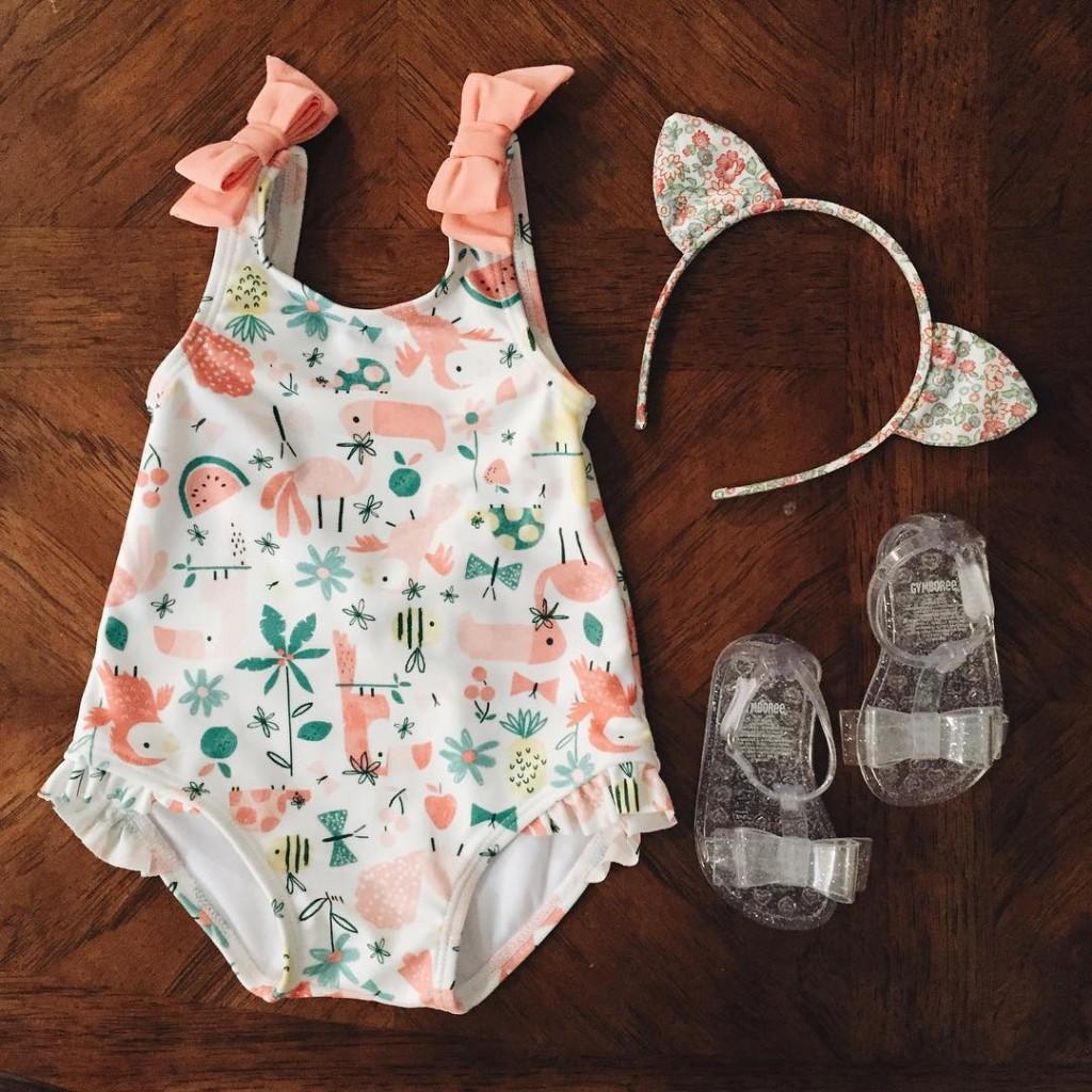 Baby girl's wardrobe got cuter and cuter...