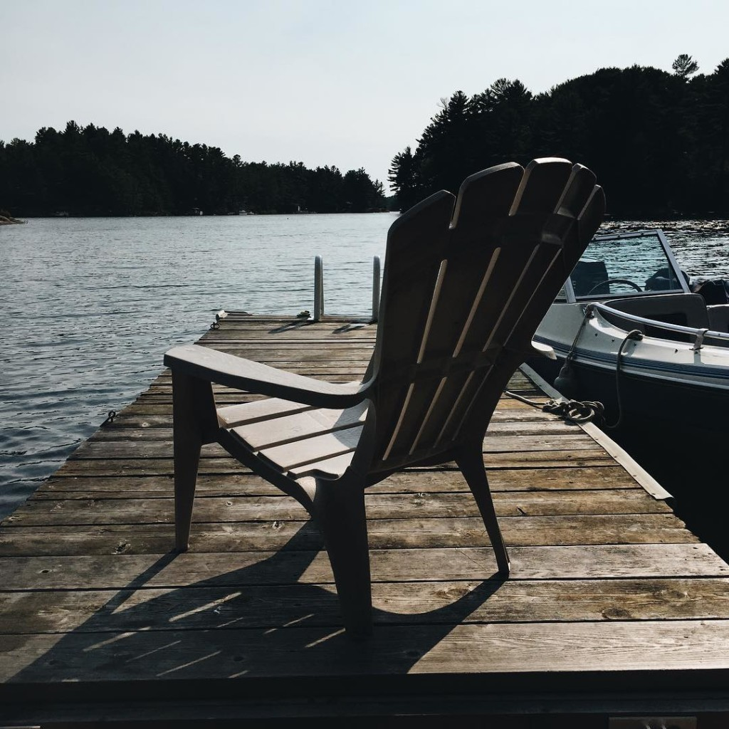 We went up to Naiscoot Lake near Georgian Bay and had the most wonderful weekend at the cottage...