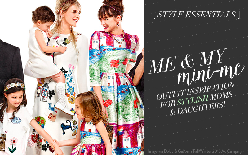 So Fresh & So Chic // www.sofreshandsochic.com // Me & My Mini-Me: 3 Coordinating Outfits for Stylish Moms & Daughters