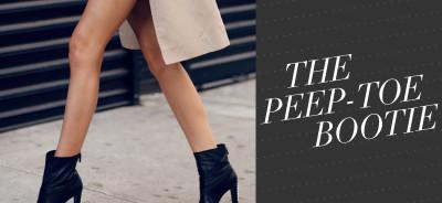 So Fresh & So Chic // Peep Toe Booties You Need RIght Now! #sofreshandsochic #streetstyle #peeptoebooties