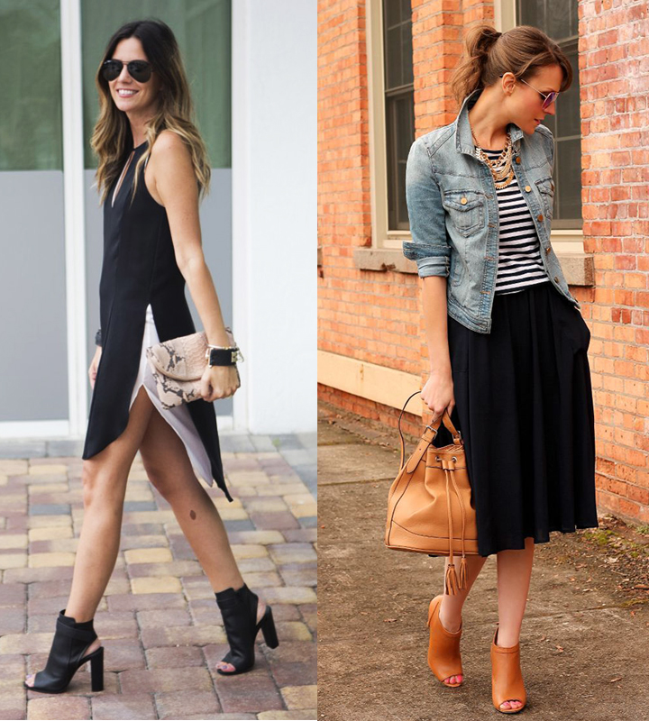 Dressed up (my favourite look!) or dressed down... Via Sauci Style, Glam Radar