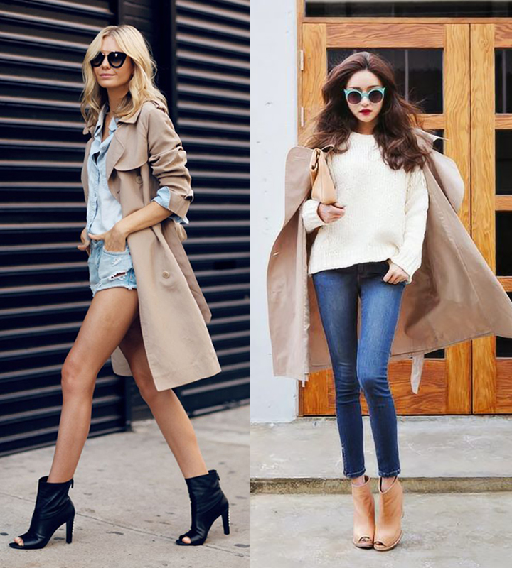 With a trench coat. Via Tuula by Jessica Stein, My Design Chic