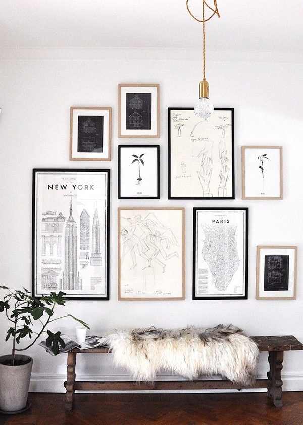 FOLLOW So Fresh & So Chic // How to Style the Perfect Gallery Wall #sofreshandsochic #gallerywall #forthehome