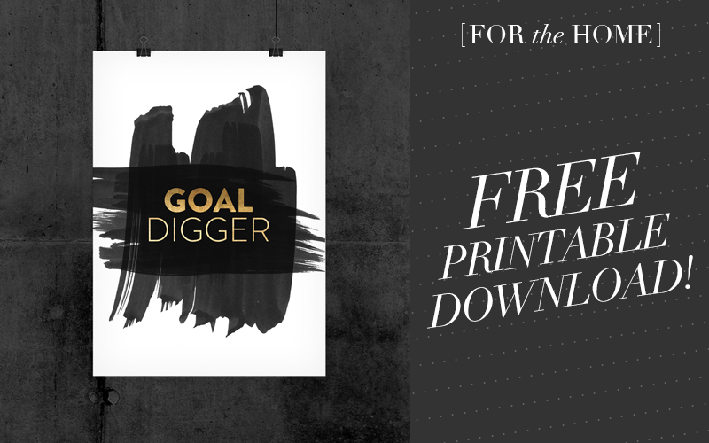 <i>[For the Home]</i><br/> Are You a Goal Digger?<br/> Free Printable Download!