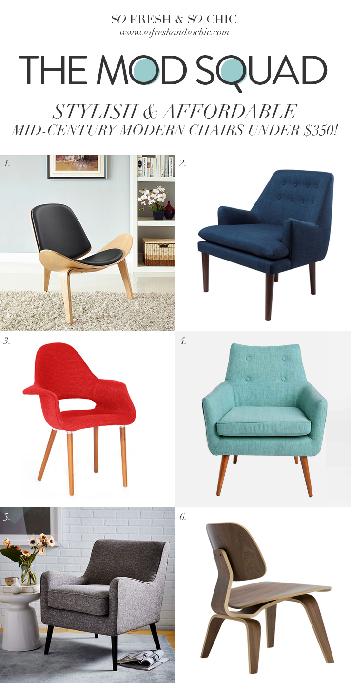 So fresh so chic 6 stylish and affordable mid century modern arm