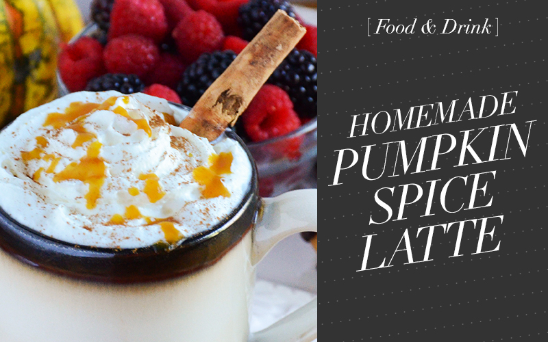 So Fresh & So Chic and Foodscape Present a Homemade Pumpkin Spice Latte Recipe!