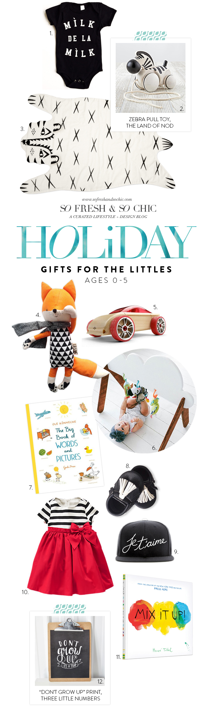 So Fresh and So Chic// A  Holiday Gift Guide for Kids Ages 0-5! #sofreshandsochic #giftsforkids
