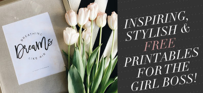 Inspiring, stylish and free printables for the girl bloss and creatives everywhere!
