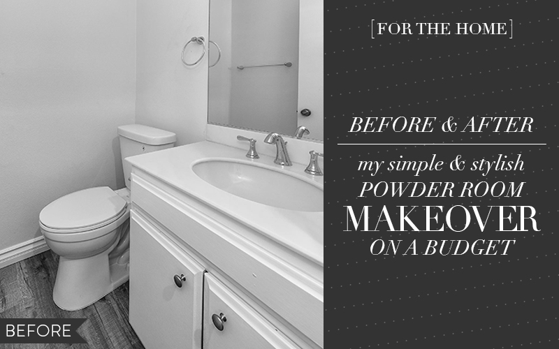 So Fresh & So Chic // An Easy, DIY Powder Room Makeover On a Budget! #sofreshandsochic #makeover #budget #interiordesignblog