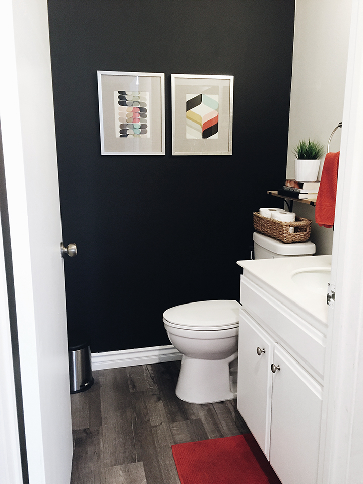 For The Home Before After My Powder Room Makeover On