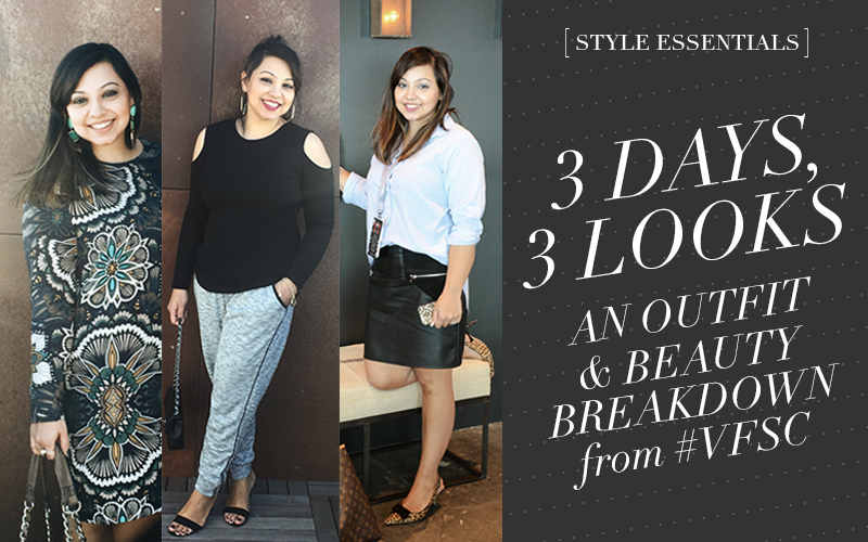 So Fresh & So Chic // 3 Days, 3 Looks from the VFSC Oscars Celebration! #ootd #beauty #makeup