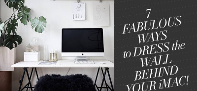 So Fresh & So Chic // Designing Around an iMac: Home Office Inspiration #decor #sofreshandsochic #interiordesign