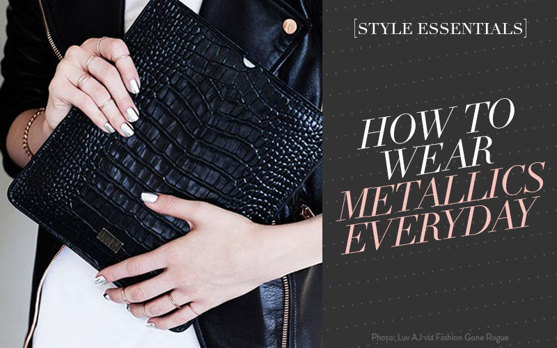 So Fresh & So Chic // How to Wear Metallics Everyday #metallics #fashion #sofreshandsochic