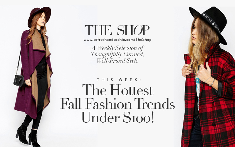 The Shop at So Fresh & So Chic // The Hottest Fall Fashion Trends Under $100! #fblogger #fallfashion #sofreshandsochic