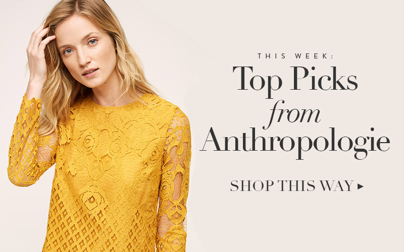 <i>[The Shop at So Fresh &#038; So Chic]</i><br/> Top Picks from the Anthropologie Sale!