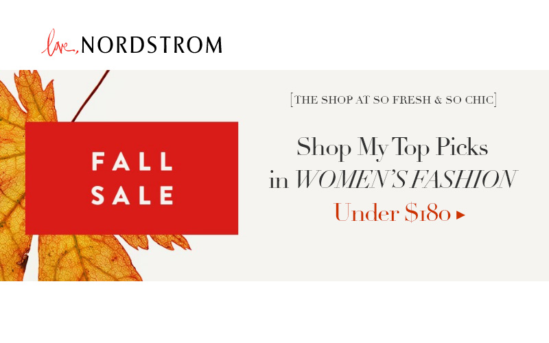The Shop at So Fresh and So Chic // Nordstrom Fall Sale #womensfashion #under200