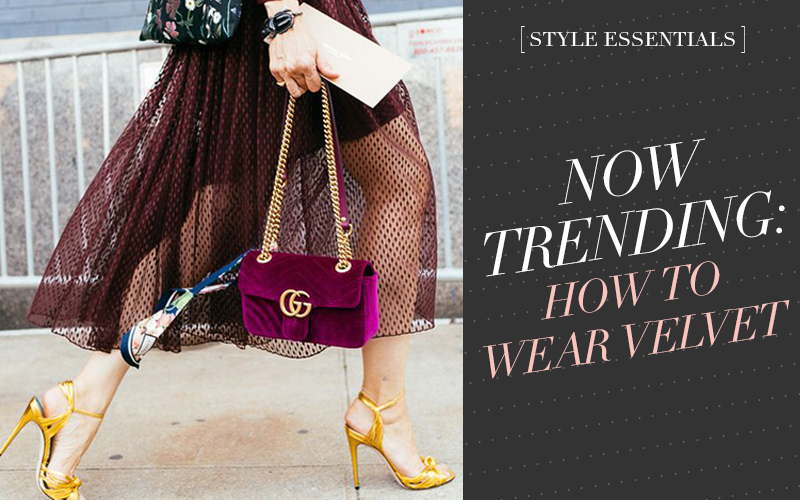 <i>[Style Essentials]</i><br/> How to Rock Velvet Like a Street Style Star!