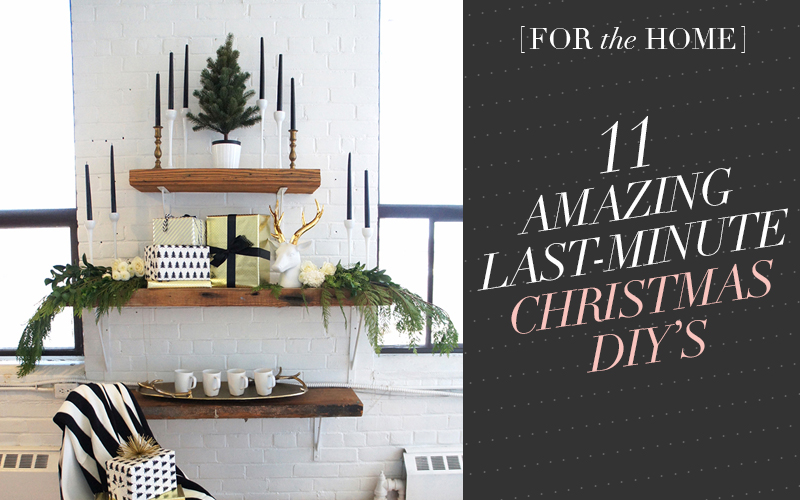 So Fresh & So Chic // 11 Amazing Last-Minute Christmas DIYs! #sofreshandsochic #christmas #diy
