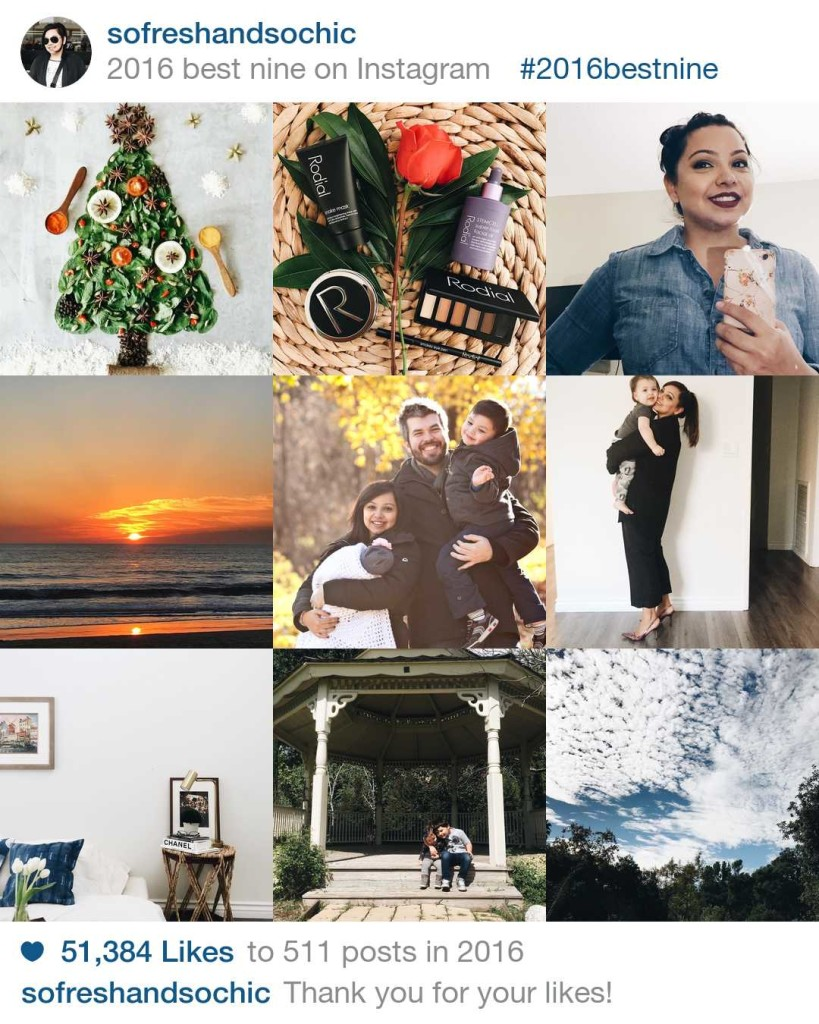 Top 9 Instagram Posts for So Fresh & So Chic! #sofreshandsochic #bestnine2016