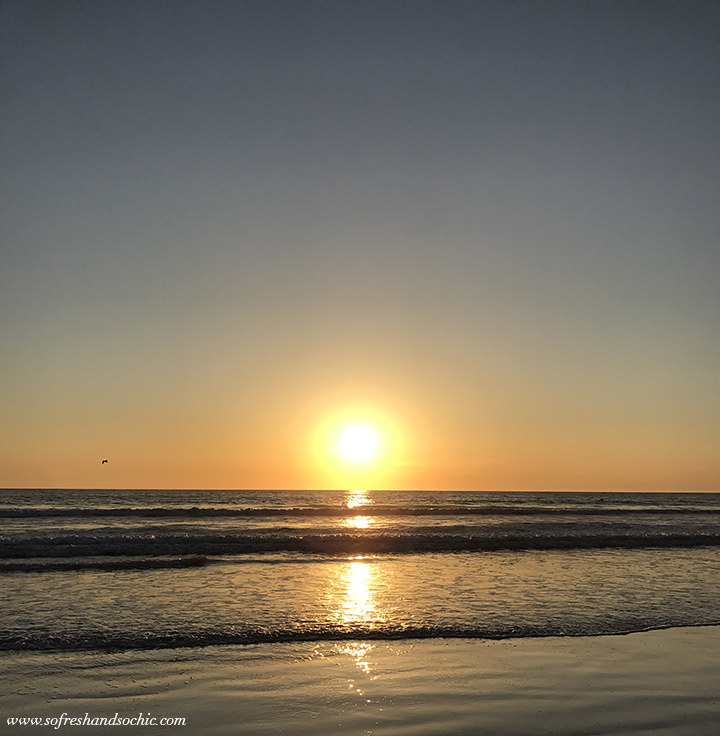 Beautiful sunset on Zuma Beach in Malibu! #sofreshandsochic