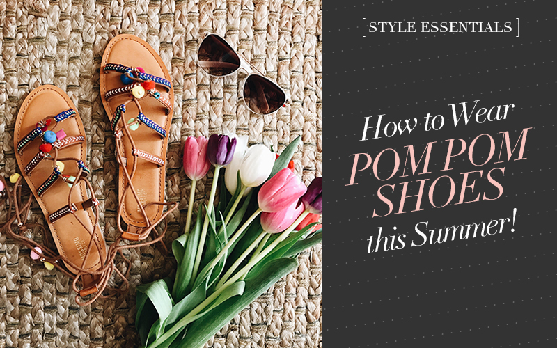So Fresh & So Chic // How to Wear Pom Pom Shoes this Summer! #target #targetstyle #shoes