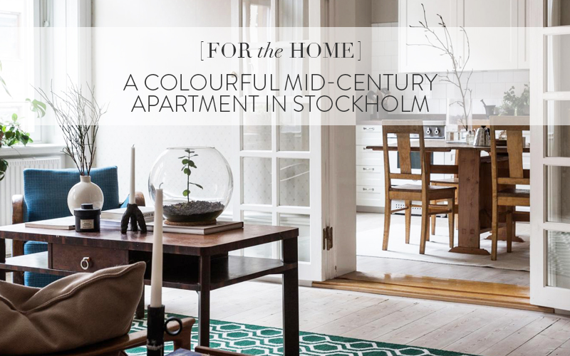 <i>[House Tours]</i><br/> A Colourful Mid-Century Apartment in Stockholm