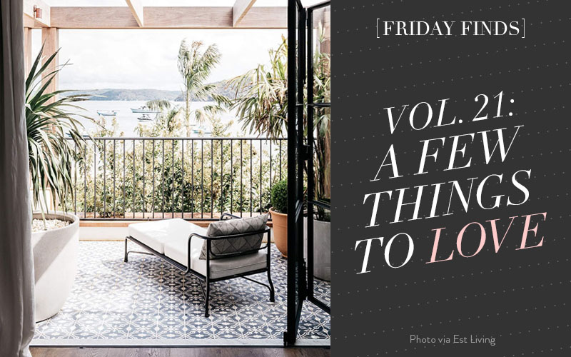 Friday Finds Vol. 21: Introducing Cloud Island, the new baby line from Target, plus an amazing Australian home tour, a palm print shopping guide, minimalist wardrobe how-to's, and copper accents at home!
