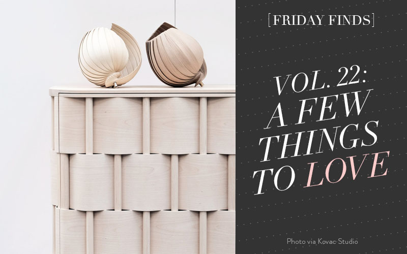 This week's Friday Finds include The 25Lamp, Carrera Marble Temporary Wallpaper, What's New at Ikea, A Stockhokm Studio Apartment Tour, and 10 Marble Home Accessories You Need!